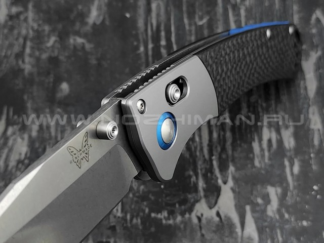 Нож Benchmade CU15080-SS-S90V Custom Crooked River сталь CPM S90V, рукоять карбон