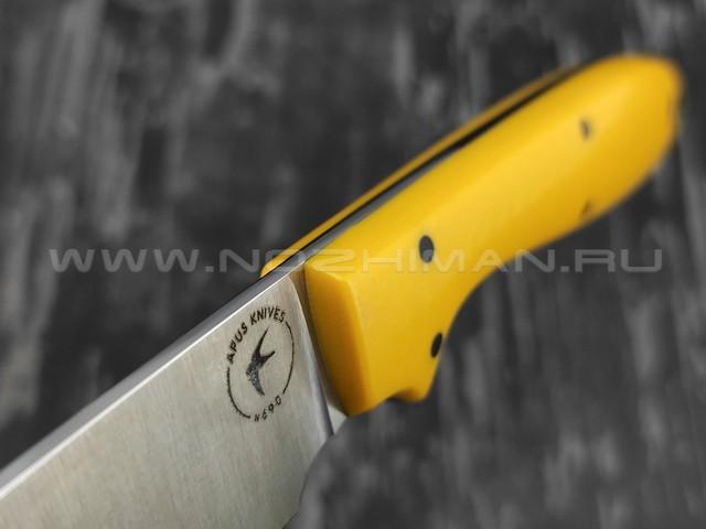 Apus Knives Wilson Long сталь N690, рукоять G10 yellow