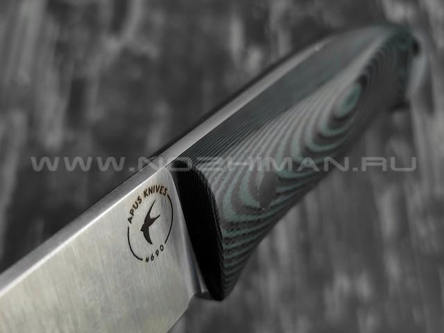 Apus Knives Guard Dog сталь N690, рукоять G10 black/hunter