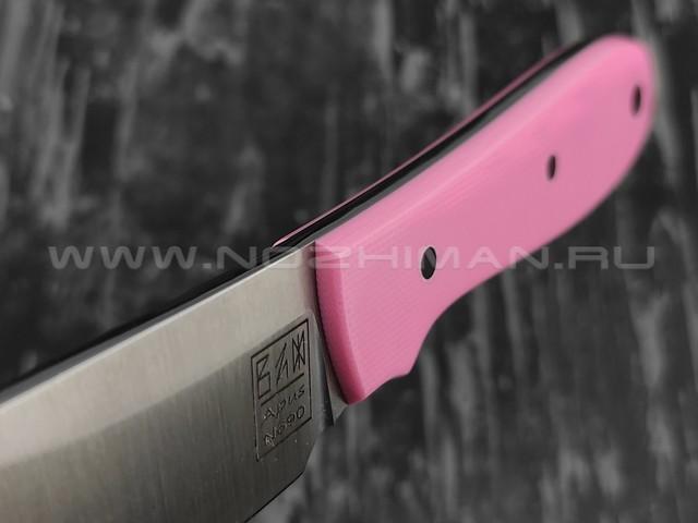 Zh KNIVES нож True сталь N690, рукоять G10 pink, ножны pink