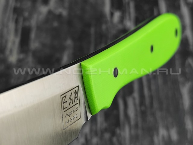 Zh KNIVES нож True сталь N690, рукоять G10 green