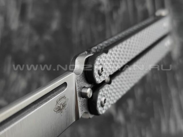 Нож Atroposknife Пират лайт сталь D2, рукоять silver twill