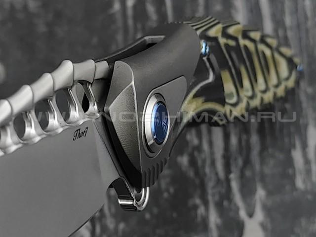 Нож Rike Knife Thor7-BG RK12922-3 сталь 154CM, рукоять G10 и титан