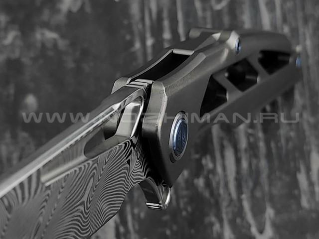 Нож Rike Knife Knight RK11953-1 сталь damasteel, рукоять титан