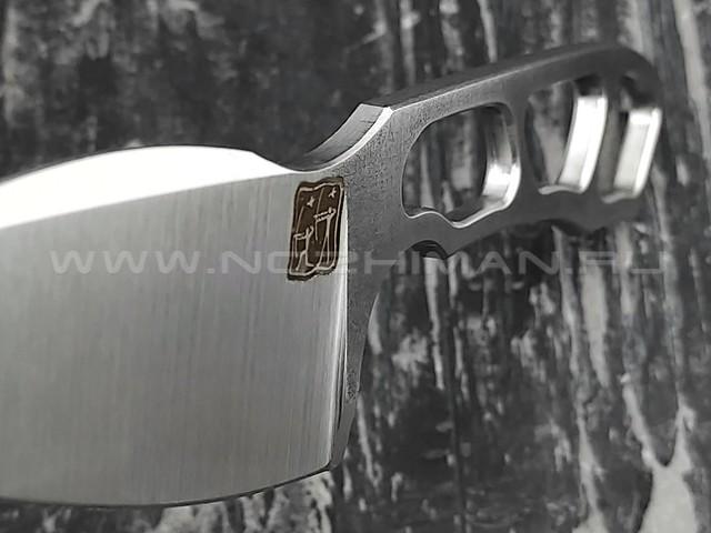 """1-й Цех нож """"Мангалоид"""" сталь 440C, рукоять сталь"""