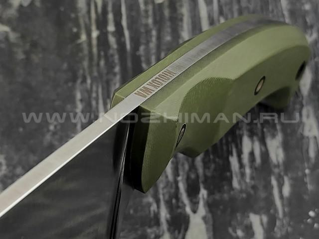 """Волчий Век нож """"Шихан"""" сталь Niolox WA, рукоять G10, карбоновые пины"""