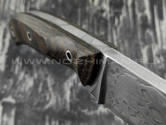 """Волчий Век нож """"Mark-I"""" Custom Brutal Edition сталь 1.4116 Krupp 7.5 мм, рукоять микарта"""