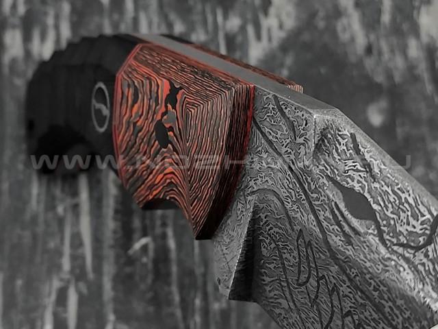 """Волчий Век нож """"Сквозняк"""" Brutal Custom Drago Edition сталь PGK WA, рукоять G10, карбон"""