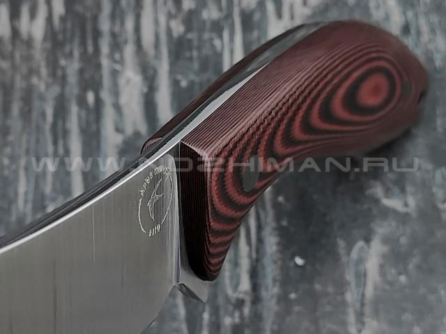 Apus Knives нож Yuhro сталь K110, рукоять G10 red & black