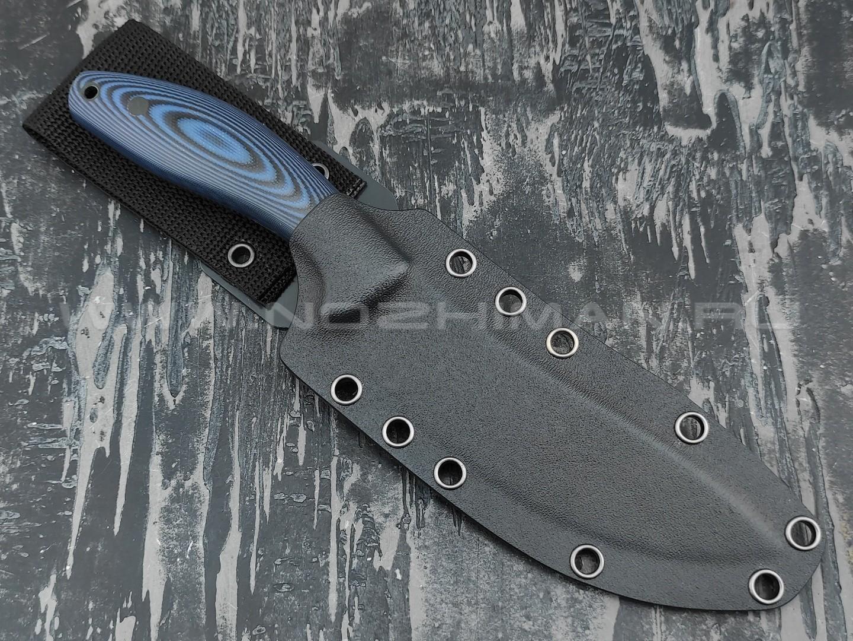 Apus Knives нож Yuhro сталь K110, рукоять G10 black & blue
