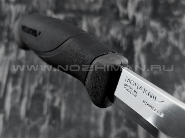 MORAKNIV нож Companion Antracite 13165 сталь inox, рукоять резинопластик