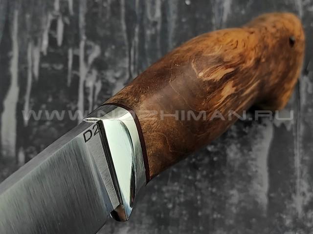 "Кузница Коваль нож ""Ладья"" сталь D2, рукоять стаб. карельская береза"
