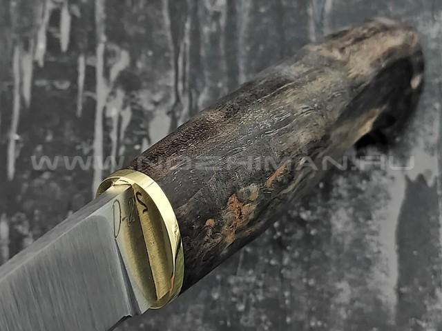 """Кузница Коваль нож """"Лесник"""" сталь D2, рукоять стаб. карельская береза"""