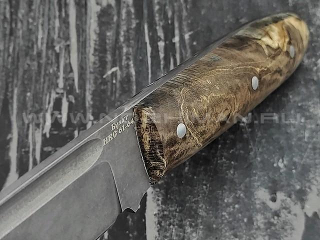 "Кузница Коваль нож ""Нэрка"" булатная сталь, рукоять стаб. карельская береза"
