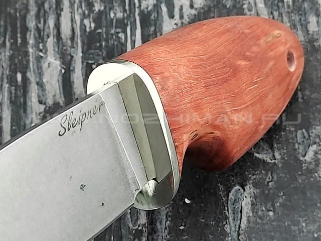 """Кузница Коваль нож """"Шкет"""" сталь Sleipner, рукоять стаб. карелськая береза"""