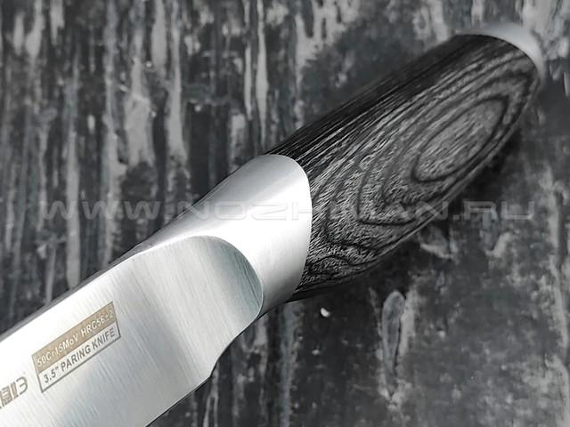 QXF овощной нож R-5173 сталь 50Cr15MoV, рукоять дерево
