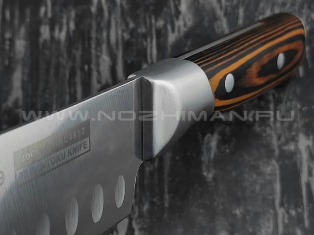 QXF нож Santoku R-4157 сталь 40Cr14, рукоять дерево