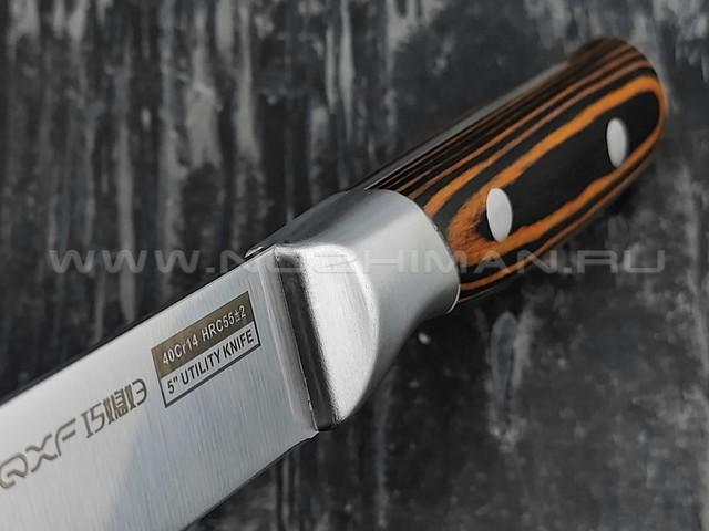 QXF универсальный нож R-4165 сталь 40Cr14, рукоять дерево