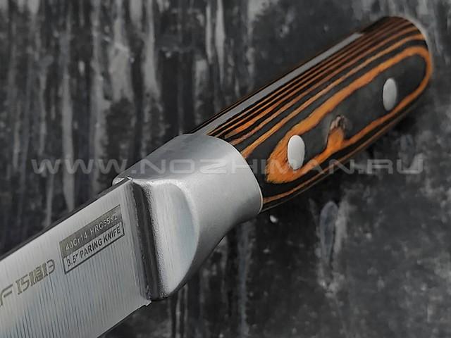 QXF овощной нож R-4173 сталь 40Cr14, рукоять дерево