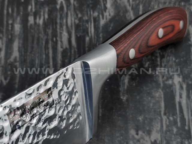 QXF Knight шеф нож R-5228 сталь 50Cr15MoV, рукоять дерево