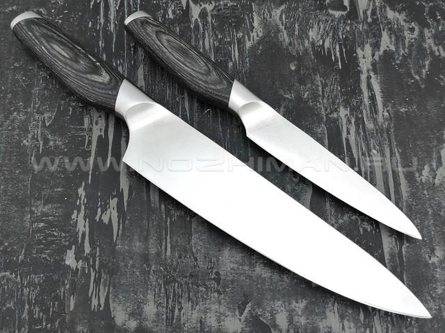 QXF набор из двух кухонных ножей R-51-2 сталь 50Cr15MoV, рукоять дерево