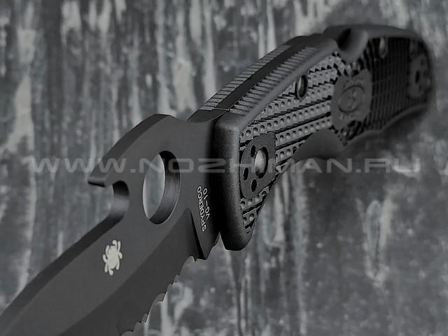Нож Spyderco Matriarch 2 Emerson 12SBBK2W, сталь VG-10 black, рукоять FRN