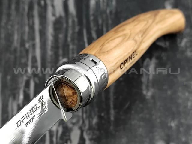 Нож Opinel складной филейный №10 000645 сталь Sandvik 12C27, рукоять олива