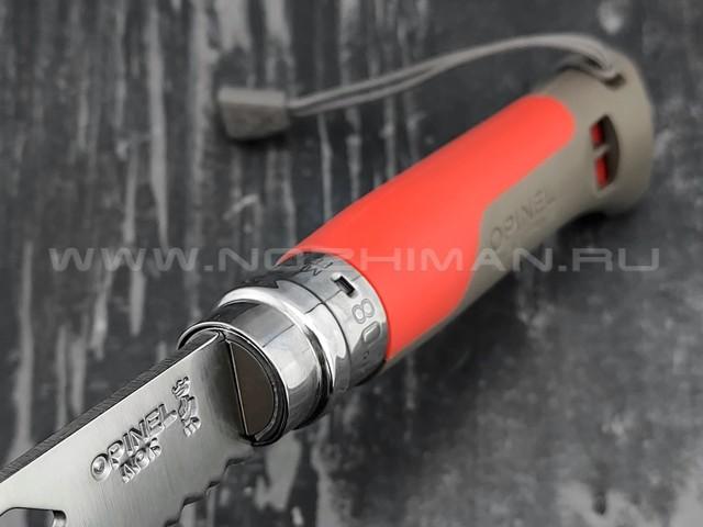 Нож Opinel Outdoors №8 001715 red сталь Sandvik 12C27, рукоять polyamide