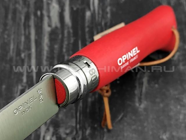 Нож Opinel Bushwhacker №8 001705 Red сталь Sandvik 12C27, рукоять бук