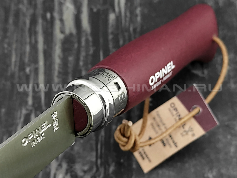 Нож Opinel Bushwhacker №8 002213 Garnet сталь Sandvik 12C27, рукоять бук