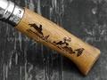 Нож Opinel Engraved №8 002333 Animalia Hare 2019 сталь Sandvik 12C27, рукоять дуб