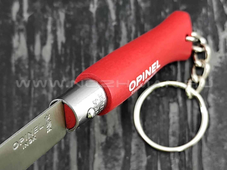 Нож-брелок Opinel Keychain №4 002055 Red сталь Sandvik 12C27, рукоять бук