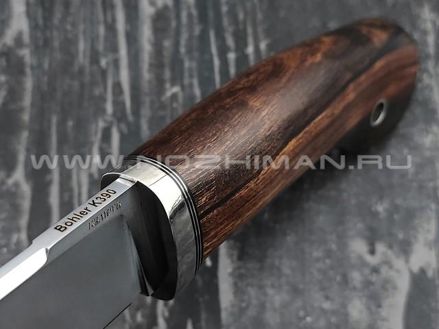 Кметь нож Клык-2, сталь K390, рукоять айронвуд