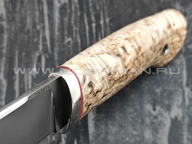 Кметь нож Клык-3, сталь CTS-XHP, рукоять карельская берёза