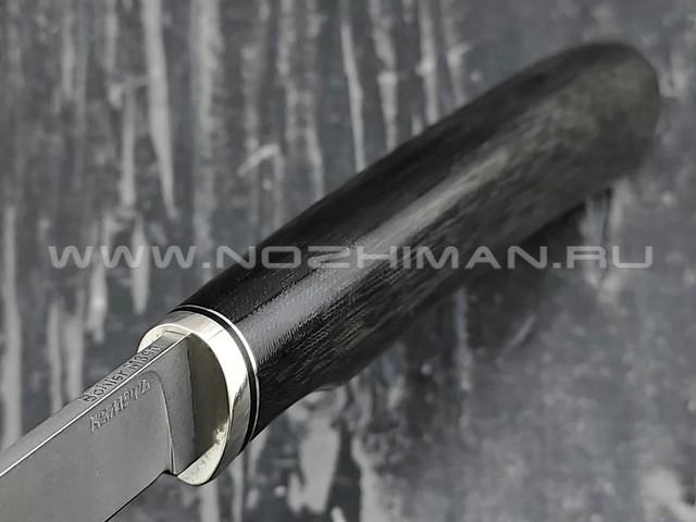 Кметъ нож Шило-1 сталь M390 рукоять микарта, мельхиор
