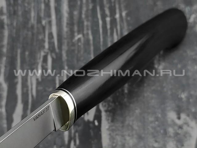 Кметь нож Шило-1, сталь Vanax 37 рукоять G10 и мельхиор