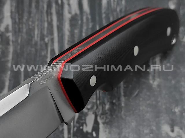 Кметь нож Акула, сталь LO-K 2379, рукоять G10