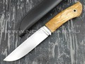 Кметь нож Панцуй, сталь PGK, рукоять карельская берёза
