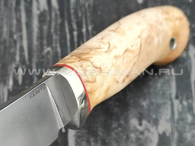 Кметь нож Скинер, сталь K340, рукоять карельская берёза