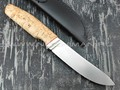 Кметь нож Скинер-2, сталь K340, рукоять карельская берёза