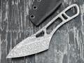 """1-й Цех нож """"Косяк"""" сталь K110, рукоять сталь, травление крупный узор"""