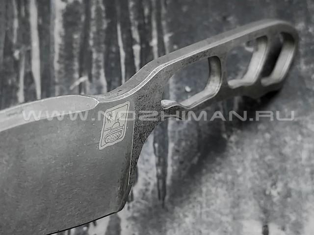 "1-й Цех нож ""Мангалоид"" сталь K110, рукоять сталь"