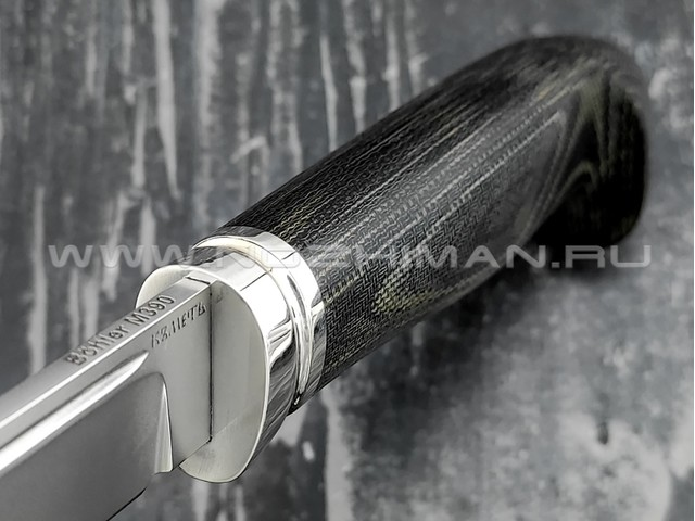 Кметь нож Разведка-2 сталь M390, рукоять микарта