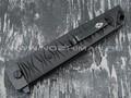 Нож Brutalica Badyuk Tanto, сталь D2 blackwash, рукоять G10 black