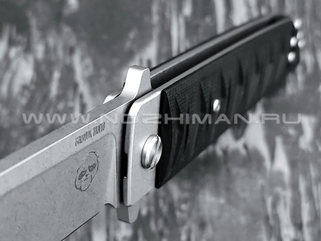 Нож Brutalica Badyuk Tanto, сталь D2 stonewash, рукоять G10 black