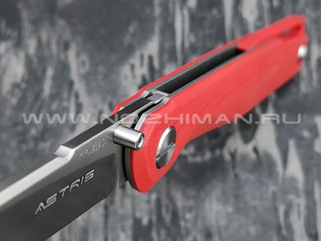 Mr.Blade нож Astris сталь D2 satin, рукоять G10 red