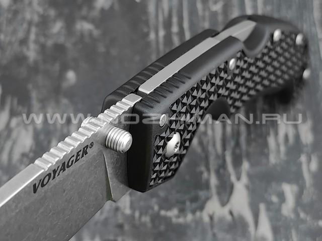 Cold Steel нож Voyager Large Drop Plain Edge 29AB сталь Aus-10A, рукоять Griv-Ex