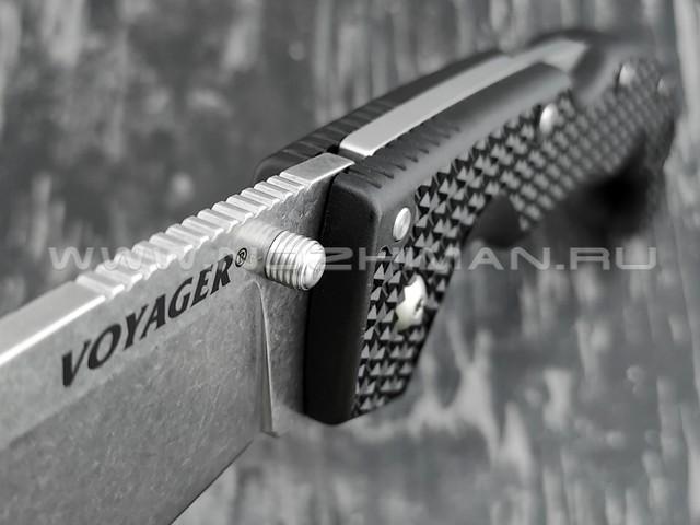 Cold Steel нож Voyager Extra Large Drop Plain Edge 29AXB сталь Aus-10A, рукоять Griv-Ex