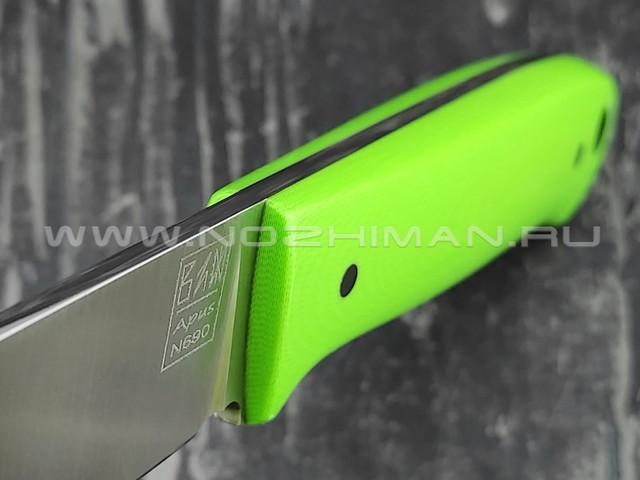 Zh Knives нож Baby R сталь N690, рукоять G10 light green