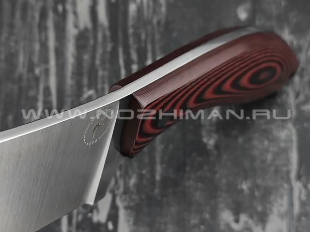 Apus Knives нож Santoku S сталь N690, рукоять G10 black/red